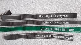 4 X Ärmelstreifen DDR Dzierzynski NVA Wachregiment Grenzt. Engels Abzeichen Ärmelband Ärmelabzeichen - Ohne Zuordnung