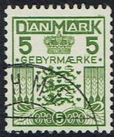 Dänemark 1934, Verrechnungsmarken, MiNr 17, Gestempelt - Dienstpost