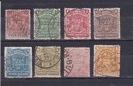 BRITISH SOUTH AFRICA COMPANY BRITISCHE SÜDAFRIKA-GESELLSCHAFT 1892/8 LOT USED Ex Mi 19-65 - Other