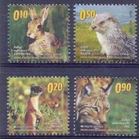 BHRS 2011-527-30 DEFINITIVE FAUNA, BOSNA AND HERZEGOVINA, 1 X 4v, MNH - Rodents