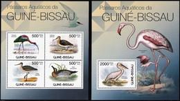 2012 Guinea Bissau Aquatic And Shore Birds Minisheet And Souvenir Sheet (** / MNH / UMM) - Ohne Zuordnung