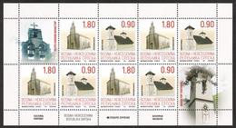 Bosnia Serbia 2021 Cultural Heritage Monasteries Religion Christianity Architecture, Mini Sheet MNH - Bosnia And Herzegovina
