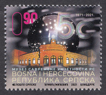 Bosnia Serbia 2021 50 Years Anniversary Of The Museum Of Contemporary Art Gallery Architecture, MNH - Bosnia And Herzegovina