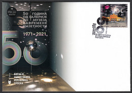 Bosnia Serbia 2021 50 Years Anniversary Of The Museum Of Contemporary Art Gallery Architecture, FDC - Bosnia And Herzegovina