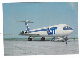 11.056 - AEREO AIRPLANE POLISH AIRLINES 50 LOT ILYUSHIN 62 KRAJOWA AGENCJA WYDAWNICZA - 1946-....: Era Moderna
