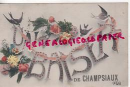 87-  CHAMPSIAUX - UN BAISER  HIRONDELLE ET RUBAN - 1916 - RARE - Andere Gemeenten
