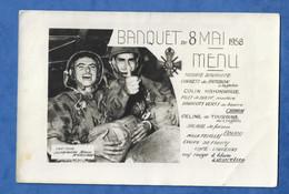 Menu Banquet Du 8 Mai 1958 - Militaria Croix Du Combattant - Parachutiste - Traiteur La Chaumière Bleue - Menus