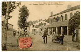 POMAREZ (Landes) - La Rue De La Halle-aux-Grains - Voir Scan - Altri Comuni
