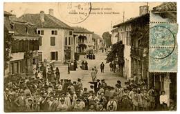 POMAREZ (Landes) - Grande Rue - Sortie De La Grand'Messe - Voir Scan - Altri Comuni