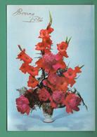 Bonne Fête Edition Photochrom Glacée 50736 Coupe D' Or Du Bon Gout ( Pivoines Et Glaïeuls ) - Flowers