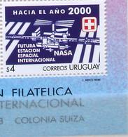 "Uruguay 1998: ""FUTURA ESTACION ESPACIAL NASA"" Michel-No 2354 (aus Block / Du Bloc) ** Postfrisch MNH - Zuid-Amerika"