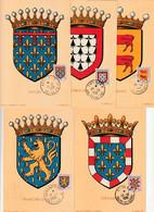 5 CARTES MAXIMUM - 1951 - BLASON  N°899/903 - 1950-59