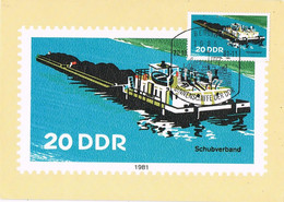 41747. Tarjeta Maxima BERLIN (Alemania DDR) 1985. Ship, Barco. Schubverband, Carguero - Maximumkaarten