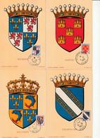 4 CARTES MAXIMUM - 1953 - ARMOIRIES  N°951/4 - 1950-59