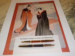 ANCIENNE PUBLICITE LAQUE ROUGE DE   WATERMAN 1978 - Sonstige