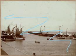 Photo Originale - 15,5 Cm X 11 Cm - 1896 - Blankenberghe - Port - Bateaux - Voir Scans - Old (before 1900)