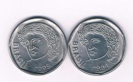 25 CENTAVOS 1994+1995 BRAZILIE /7168/ - Brazil