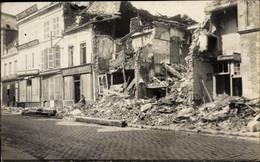 Photo CPA Elincourt Nord, Straße Mit Geschäftshäusern, Trümmer, Kriegszerstörung I. WK - Andere Gemeenten