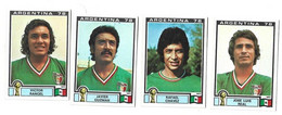 Lot 4 Vignettes Panini Argentina 78 Mexique - French Edition