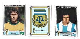 Lot 3 Vignettes Panini Argentina 78 Argentine Brésil - French Edition