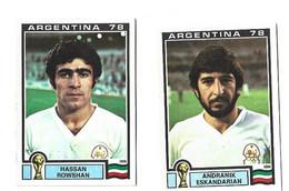 Lot 2 Vignettes Panini Argentina 78 Iran - French Edition