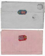 2 Lettres Vignette Publicitaires Porcelaine LIMOGES 1872 - 1921-1960: Période Moderne
