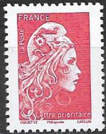 France 2021 Neuf **  Gommé   N° 5253A  - Marianne L'engagée  -  Lettre Prioritaire Rouge ( Avec Philaposte ) - 2018-... Marianne L'Engagée