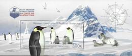 FRENCH ANTARCTIC, TAAF, 2021, MNH, BIRDS, PENGUINS, ANTARCTIC TREATY, S/SHEET - Antarctic Treaty