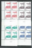 TR 455/458 ** EN BLOC DE 4 AVEC COINS DATES - 1952-....