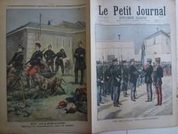 Journal Le Petit Journal 8 Août 1897 351 Drapeau Des Douaniers Allemagne Chiens De Guerre Cyclistes - 1850 - 1899