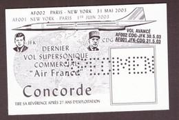SPECIMEN Vignette Bloc Concorde Dernier Vol Commercial Air France Paris New York 2003 Charles De Gaulle - Autres