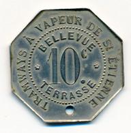 1881-1914 // SAINT-ETIENNE (42) // TRAMWAYS // Dix Centimes - Professionals / Firms