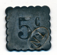 NANTES (44) // TRAMWAYS // Cinq Centimes - Professionals / Firms