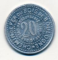 1900 // PARIS (75) // Compagnie Du Chemin De Fer Du Bois De Boulogne // Vingt Centimes - Professionals / Firms