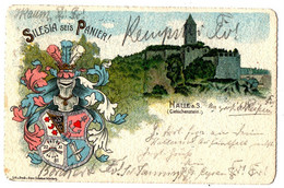 "Litho Studentika: ""Silesia Sei's Panier!"",  Halle A.S.,(Giebichenstein), Gel. 27.4.1904 - Other"