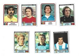 Lot 7 Vignettes Panini Argentina 78 Divers Joueurs - French Edition