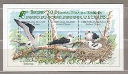 CHRISTMAS ISLAND 1990 Fauna Birds Birdpex Exhibition MNH(**) Mi Bl 5II #31233 - Ohne Zuordnung