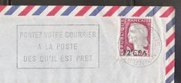 Lettre Avec Flamme De La Réunion, Entête Les Pharmaciens Réunis (ref L B60) - Brieven En Documenten