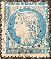 Siège De Paris N° 37 (Variété, Lune Et Coin Gauche Du Bas)  Avec Oblitération Etoile  TB - 1870 Siège De Paris