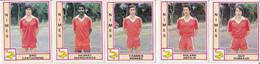 PANINI FOOTBALL 1980 LOT DE 5 IMAGES NIMES - French Edition