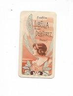 Carte Parfumée / Publicitaire 1920/30 Parfum LIBELLA DELETTREZ PARIS / Publicité Garage PEERLESS CONTREXEVILLE VOSGES - Profumeria Antica (fino Al 1960)