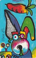 GERMANY(chip) - Painting/Otmar Alt, Chinese Horoscope/Rabbit(P 09), Chip Siemens 30, CN : 1404, 05/94, Mint - Zodiaco