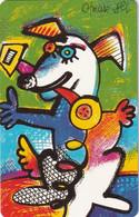 GERMANY(chip) - Painting/Otmar Alt, Chinese Horoscope/Dog(P 13), Chip Siemens 30, CN : 1311, 09/93, Mint - Zodiaco