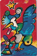 GERMANY(chip) - Painting/Otmar Alt, Chinese Horoscope/Rooster(P 10), Chip Siemens 31, CN : 1212, 11/92, Mint - Zodiaco