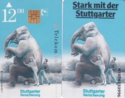 GERMANY(chip) - Elephant, Stuttgarter Versicherung(S 121), 03/92, Mint - Non Classificati