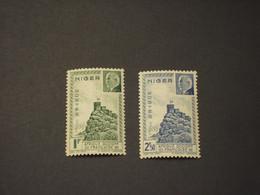 NIGER - 1941 PETAIN 2 VALORI - NUOVO(+) - Unused Stamps