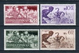 Guinea Española 1954. Edifil 334-37 ** MNH. - Guinea Espagnole