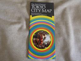 Tokyo City Map - Pan Am - Carte/Map Géographique 1970 - Mapas Geográficas