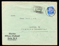 "DR Auslands-Brief BERLIN NW 7 - Popayan Colombia S.A. / Kolumbien - 22.4.37 - MWS: ""Rohrpost Bringt Zeigeweinn"" - Storia Postale"