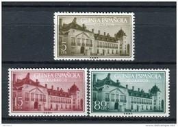 Guinea Española 1955. Edifil 347-49 ** MNH. - Guinea Espagnole